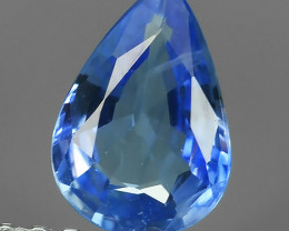 ~AWESOME BLUE SAPPHIRE FACET GENUINE PEAR MADAGASCAR~