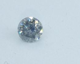 0.48ct Light bluish Gray  Diamond , 100% Natural Untreated