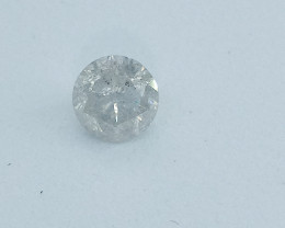 0.42ct Fancy White  Diamond , 100% Natural Untreated