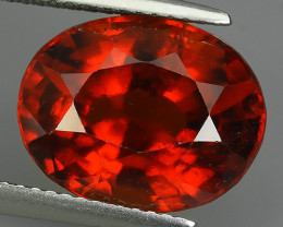 9.00 Cts Natural Reddish Orange Hessonite Garnet Oval Cut Gemstone!!