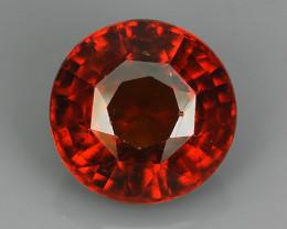 11.95 Cts Natural Reddish Orange Hessonite Garnet Round Cut Gemstone!!
