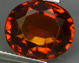 8.80 Cts Natural Reddish Orange Hessonite Garnet Oval Cut Gemstone!!