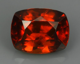 8.10 CTS EXCELLENT TOP LUSTER HESSONITE GARNET CUSHION BEAUTY...