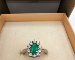 0,45ct Colombian Emerald 18k Solid Gold Ring Colombian Emerald Colombian Em