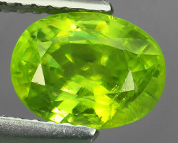 1.75 CTS AMAZING RAREST ! TOP FIRE NATURAL GREENISH-YELLOW COLOR SPHENE!!