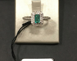 0,34ct  Super Clean Colombian Emerald 18k Solid Gold Colombian Emerald Colo