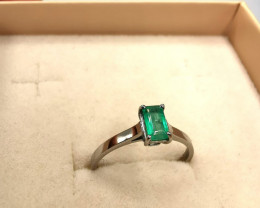 0,37ct Colombian Emerald 18k Solid Gold Ring Colombian Emeralds Colombian E