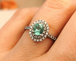 0,69ct Colombian Emerald 18k Solid Gold Ring Colombian Emerald Colombian Em