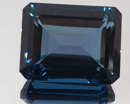 Big 25.9 Ct London Blue Topaz Octagon 18x14mm(SKU 70)