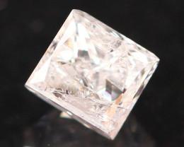 0.32Ct Fancy Pink Princess Cut Natural Diamond A2704