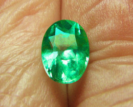 1.57 ct Exceptional Colombian Emerald Certified! High-End Stone!