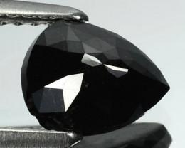1.13 Cts Natural Coal Black Diamond Fancy Pear Cut Africa