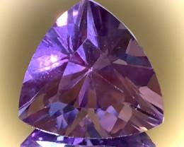 14.45ct Sparkling Pink Mauve Amethyst - VVS Trillion