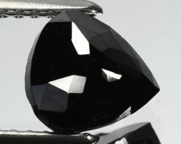 1.35 Cts Natural Coal Black Diamond Fancy Pear Cut Africa