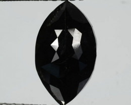 1.53 Cts Natural Coal Black Diamond Fancy Marquise Cut Africa