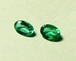 2.03 tcw Top Zambian Emeralds Pair Certified!