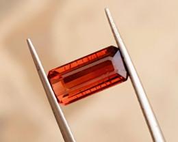 2.50 Ct Natural Reddish Orange Transparent Tourmaline Gemstone