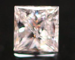 0.17Ct Fancy Pink Princess Cut Natural Diamond E2810