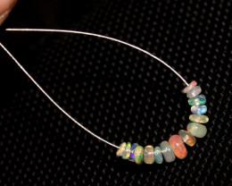 1.70 Crts Natural Ethiopian Welo Opal Beads Demi Strand 97