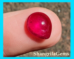 4ct 10.2mm Round Ruby cabochon Mozambique