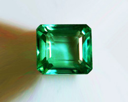 1.13 ct  Magnificent High-End Zambian Emerald Certified!