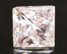 0.20Ct Fancy Pink Princess Cut Natural Diamond A2901