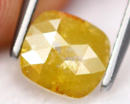 0.77Ct Fancy Yellow Rose Cut Natural Diamond A2910