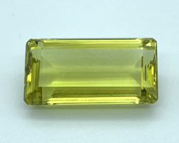 IPGTL Certified 91.83 ct Natural Lemon Quartz Loose Gemstone - Cut Octa
