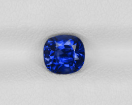 Blue Sapphire, 1.11ct - Mined in Kashmir   Certified by GIA & IGI