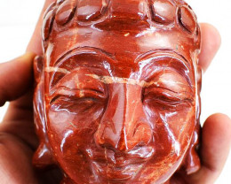Genuine 2950 cts Red Jasper Buddha Head