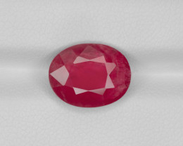 Ruby, 4.37ct - Mined in Burma | Certified by GRS