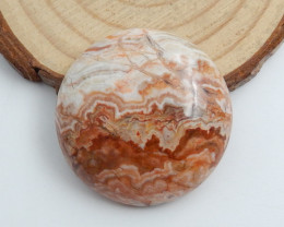 Round Crazy Lace Agate Cabochon, Natural Crazy Lace Agate Loose Gemstone C7