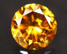 0.32Ct Fancy Vivid Yellow Natural Diamond A3003