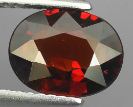 2.32 CTS OUTSTANDING! OVAL FACET BLOOD RED NATURAL SPESSARTITE GARNET NR!