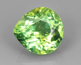 3.00 CTS FINE QUALITY _ LUSTROUS - NATURAL GREEN APATITE - HEART PEAR_NR!!