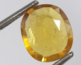 1.7Ct Yellow Sapphire Oval 9.2x7.9mm(SKU 63)