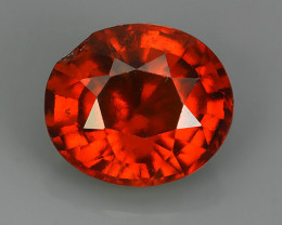 7.75 Cts WOW NATURAL UNHEATED RED OVAL HESSONITE GARNET