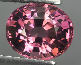 1.75 CTS OUTSTANDING! OVAL FACET PINK NATURAL MALAYA GARNET NR!