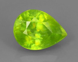 2.25 CTS AMAZING RAREST ! TOP FIRE NATURAL GREENISH-YELLOW COLOR SPHENE!!