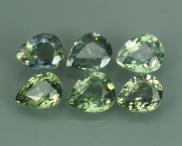 2.70 CTS AWESOME NICE GREEN SAPPHIRE FACET GENUINE PEAR!!