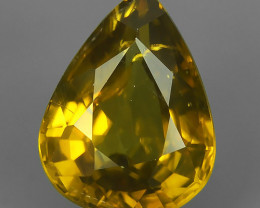 3.68 CTS ATTRACTIVE ULTRA RARE NATURAL ZIRCON PEAR EXECLLENT!!