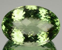 44.15 Cts Natural Green Prasiolite / Amethyst Oval Checkerboard Cut Brazil