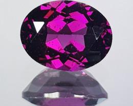 2.38 ct AAA Grade  Oval Cut Natural Purple Pink Rhodolite Garnet