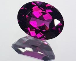 "2.50 ct "" AAA Grade "" Oval Cut Natural Purple Pink Rhodolite Garn"