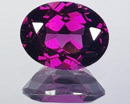 "2.40 ct "" AAA Grade "" Oval Cut Natural Purple Pink Rhodolite Garnet"
