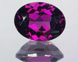 2.42 ct Top Quality Gem Oval Cut Natural Purple Pink Rhodolite Garnet