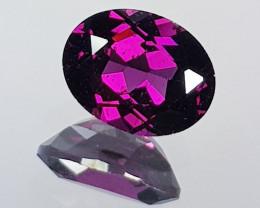 "2.30 ct "" AAA Grade "" Oval Cut Natural Purple Pink Rhodolite Garn"