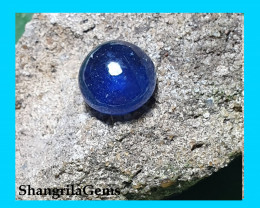 SAVED FOR CUSTOMER DO NOT BUY 3.8ct 8.5mm round blue SAPPHIRE cabochon  hea