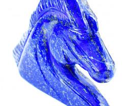 Genuine 1040.00 Cts Blue Lapis Lazuli Horse Head