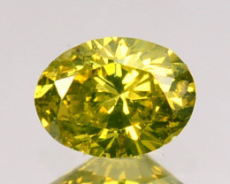 0.12 Cts Natural Diamond Golden Yellow Oval Cut Africa